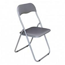 Καρέκλα Μεταλλική Πτυσσόμενη Γκρι - Γκρι Σκελετό Linda Woodwell 43x46x80υψ 22496Ε557,5