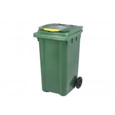 Κάδος Απορριμάτων Βαρέως Τύπου Πλαστικός Πράσινο 240lt 2 Ρόδες Επαγγελματικός - Οικιακός Κήπου 57x72,5x105υψ RZ-240 E.C.
