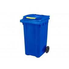 Κάδος Απορριμάτων Βαρέως Τύπου Πλαστικός Μπλε 240lt 2 Ρόδες Επαγγελματικός - Οικιακός Κήπου 57x72,5x105υψ RZ-240 E.C.