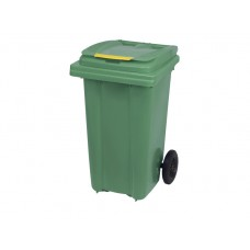 Κάδος Απορριμάτων Βαρέως Τύπου Πλαστικός Πράσινο 120lt 2 Ρόδες Επαγγελματικός - Οικιακός Κήπου 47x54x95υψ RZ-120 E.C.