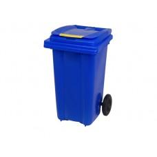Κάδος Απορριμάτων Βαρέως Τύπου Πλαστικός Μπλε 120lt 2 Ρόδες Επαγγελματικός - Οικιακός Κήπου 47x54x95υψ RZ-120 E.C.