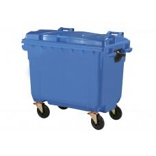 Κάδος Απορριμάτων Βαρέως Τύπου Πλαστικός Μπλε 660lt 4 Ρόδες Επαγγελματικός 76x137x120υψ RZ-660 E.C.