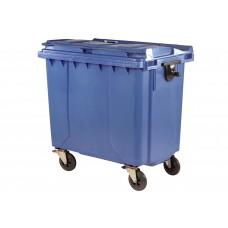 Κάδος Απορριμάτων Βαρέως Τύπου Πλαστικός Μπλε 770lt 4 Ρόδες Επαγγελματικός 83x137x136υψ RZ-770 E.C.