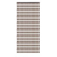 Κουρτίνα Πόρτας Με Χάντρες Κονιάκ-Σταχτί 120x220υψ Chios Hellas KO105