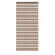 Κουρτίνα Πόρτας Με Χάντρες Κονιάκ-Σωμόν 140x230υψ Chios Hellas KO115