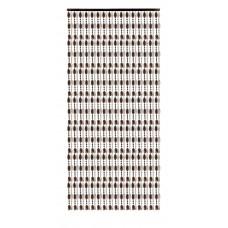 Κουρτίνα Πόρτας Με Χάντρες Κονιάκ-Διαφανές 140x230υψ Chios Hellas KO115