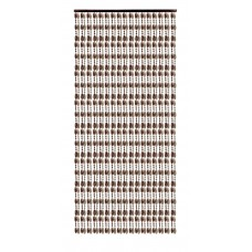 Κουρτίνα Πόρτας Με Χάντρες Κονιάκ-Σταχτί 140x230υψ Chios Hellas KO115