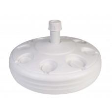 Βάση Πλαστική Στρογγυλή Παραλίας Για Ομπρελα Θαλάσσης OEM 0050 49x16εκ - Άσπρη