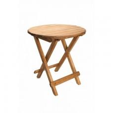 Tραπέζι Ξύλινο Πτυσσόμενο Στρογγυλό Οξιά Ανοιχτό Χρώμα 277 45x45x50υψ
