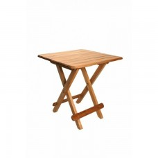 Tραπέζι Ξύλινο Πτυσσόμενο Τετράγωνο Οξιά Ανοιχτό Χρώμα 277 45x45x50υψ