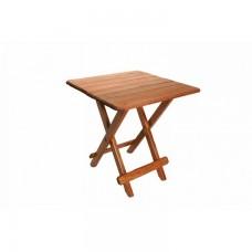 Tραπέζι Ξύλινο Πτυσσόμενο Τετράγωνο Οξιά Καφέ 277 45x45x50υψ