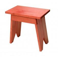 Σκαμπώ Ξύλινο Ορθογώνιο Πορτοκαλί Οξιά 671 33x20x32υψ