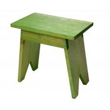 Σκαμπώ Ξύλινο Ορθογώνιο Πράσινο Οξιά 671 33x20x32υψ