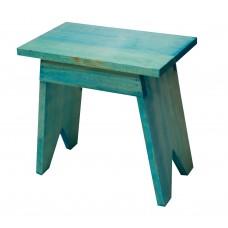 Σκαμπώ Ξύλινο Ορθογώνιο Μπλε Οξιά 671 33x20x32υψ