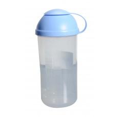 Σεικερ Πλαστικό 0,5lt Allegra 9x9x18υψ OEM 19199 - Μπλε Καπάκι