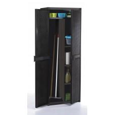 Ντουλάπα Με Χώρισμα Rattan 5710 Σκούρο Καφέ 65x45x172cm