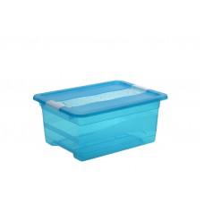 Κουτί Αποθήκευσης Keeeper Cornelia Μπλε 12lt Με Καπάκι 39,5 x 29,5 x 17,5υψ 2504202