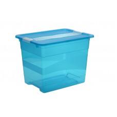 Κουτί Αποθήκευσης Keeeper Cornelia Μπλε 24lt Με Καπάκι 39,5 x 29,5 x 30υψ 2504302