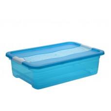 Κουτί Αποθήκευσης Keeeper Cornelia Μπλε 28lt Με Καπάκι 59,5 x 39,5 x 17υψ 2504402