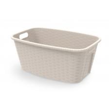 Λεκάνη Πλαστική Απλύτων - Πλυμμένων Romy Rattan Μπεζ 35Lt 60x40x25υψ 2604007
