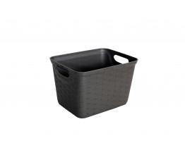 Καλάθι Ταξινόμησης Πλαστικό Rattan Dandy Σκούρο Καφέ XS 5,5Lt 25x19x17υψ Νο 0134