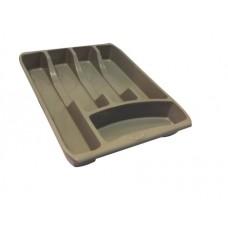Κουταλοθήκη Πλαστική 5 θέσεων Smarty Γκρι - Καφέ 34x26εκ Νο 0053