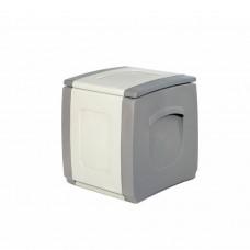 Μπαούλο Πλαστικό Γκρι - Ανθρακί 100lt Compact Homeplast 54x50x57υψ Α00530