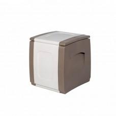 Μπαούλο Πλαστικό Μπεζ - Λευκό 100lt Compact Homeplast 54x50x57υψ Α00530