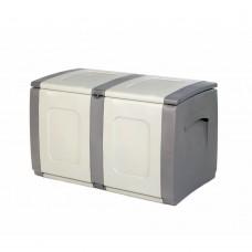 Μπαούλο Πλαστικό Γκρι - Ανθρακί 200lt Regular Homeplast 54x94x57υψ Α00531