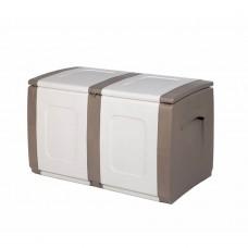 Μπαούλο Πλαστικό Μπεζ - Λευκό 200lt Regular Homeplast 54x94x57υψ Α00531