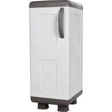 Ντουλάπα - Παπουτσοθήκη Πλαστική Χαμηλή Μονή 4 Ράγες Γκρι - Ανθρακί Φαίδρα Homeplast 44x36x96υψ Α00662