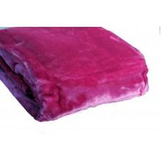 Κουβέρτα Βελουτέ Μονόχρωμη Φούξια Διπλή MINK 001.051 200x240εκ