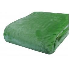Κουβέρτα Βελουτέ Μονόχρωμη Πράσινη Διπλή MINK 001.051 200x240εκ