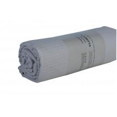 Κουβερτα Πικε Μονή 170x250εκ Μονοxρωμη Υποαλλεργική OEM 001.085 - Γκρι
