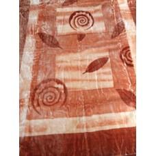Κουβέρτα Βελουτέ Εμπριμέ Μονή CRYSTAL MINK 001.002 160x220εκ Sf-632