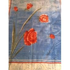 Κουβέρτα Βελουτέ Εμπριμέ Μονή CRYSTAL MINK 001.002 160x220εκ Sf-633