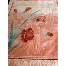 Κουβέρτα Βελουτέ Εμπριμέ Μονή CRYSTAL MINK 001.002 160x220εκ Sf-636