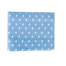 Μαξιλαροθήκη Εμπριμέ 50x70εκ OEM 003.130 - Γκρι - Μπλε Πουά
