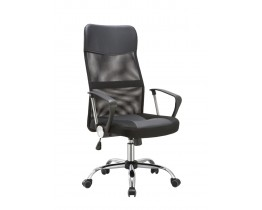 Καρέκλα Γραφείου - Πολυθρόνα Μαύρη Μesh Και Δερματίνη Go Ηigh - ΑG2971-034 - Avant Garde