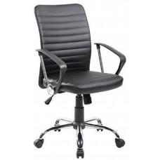 Καρέκλα Γραφείου - Πολυθρόνα Μαύρη Δερματίνη Stripes - ΑG2971-011 - Avant Garde