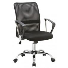 Καρέκλα Γραφείου - Πολυθρόνα Μαύρη Μesh Και Δερματίνη Go Low - ΑG2971-018 - Avant Garde