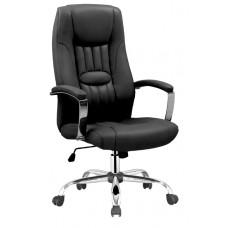 Καρέκλα Γραφείου - Πολυθρόνα Μαύρη Δερματίνη Classic - ΑG2971-030 - Avant Garde