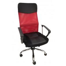 Καρέκλα Γραφείου - Πολυθρόνα Κόκκινο Μesh Και Δερματίνη Go Ηigh - ΑG2971-034 - Avant Garde