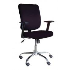 Καρέκλα Γραφείου Μαύρο Ύφασμα Μεταλλικά Πόδια ZH-AC25 - Avant Garde - ΑG2637-020