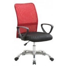 Καρέκλα Γραφείου - Πολυθρόνα Κόκκινο Μesh Και Δερματίνη Go Low - ΑG2971-018 - Avant Garde