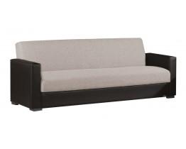 Καναπές - Κρεβάτι Τριθέσιος Latte Ύφασμα Μαύρη Δερματίνη Βest 01-1825 210x85εκ AG2622-364 - Avant Garde