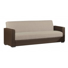 Καναπές - Κρεβάτι Τριθέσιος Μπεζ Ύφασμα Καφέ Δερματίνη Βest 01-1320 210x85εκ AG2622-363 - Avant Garde