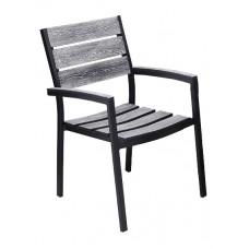 Πολυθρόνα 100% Αλουμίνιο Salem Γκρι ΑG2381-183 - Avant Garde