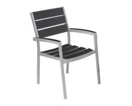 Πολυθρόνα 100% Αλουμίνιο Αquarium Λευκό - Μαύρο ΑG2381-159 - Avant Garde