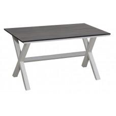 Τραπέζι 100% Αλουμίνιο Αquarium Λευκό - Μαύρο 160x90εκ ΑG2381-158 - Avant Garde